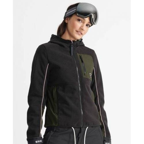 Superdry Sport Freestyle Tech Fleecejacke 38 schwarz