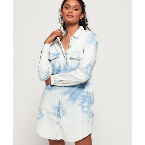 Superdry Jeans-Hemdkleid in Übergröße, female, Kleider, 34