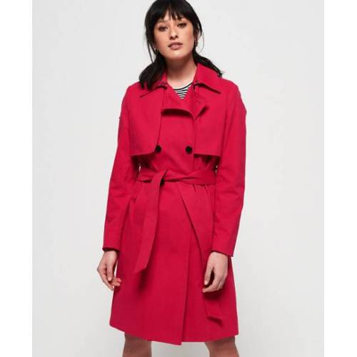 Superdry Sirena Trenchcoat 40 rot