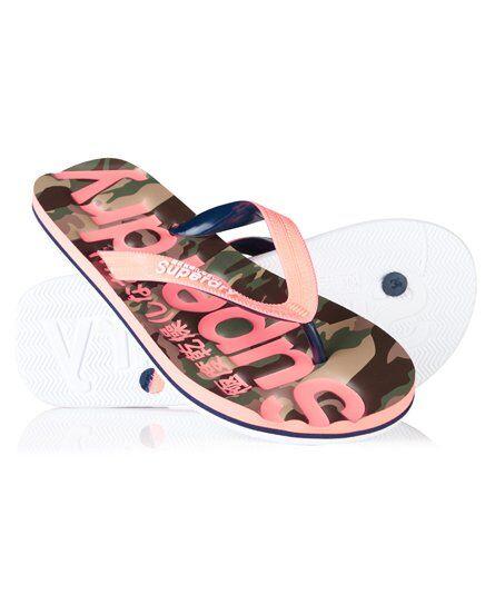Superdry Classic Camo Flip Flops S pink