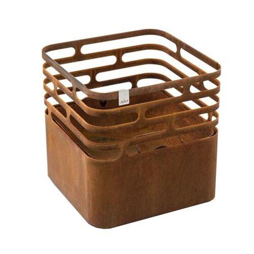 höfats Cube Feuerkorb Corten-Stahl Braun