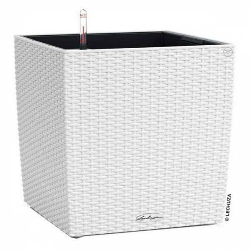Lechuza Cube Pflanztopf 40x40x40cm Kunststoff Weiß