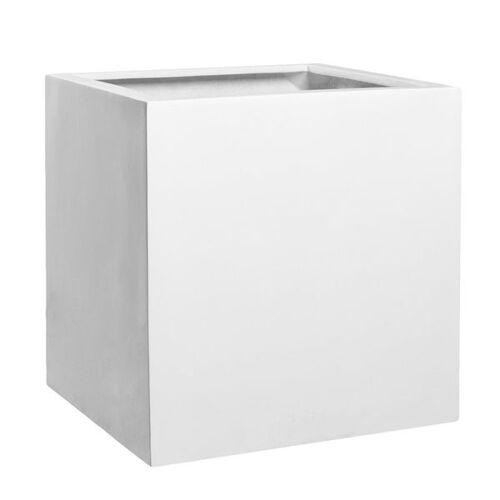 Pottery Pots Block L Pflanztopf 50x50cm Fiberstone Weiß