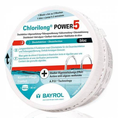 BAYROL Chlorilong® Power 5 Bloc Chlortablette 650g