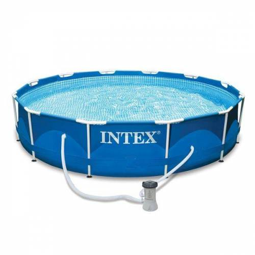 INTEX Frame Pool-Set Ø366cm m. Kartuschenfilter Blau