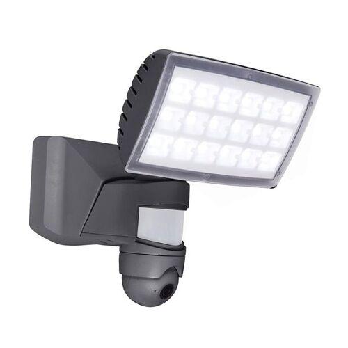 LUTEC Peri LED-Kameraleuchte Kunststoff Hellgrau
