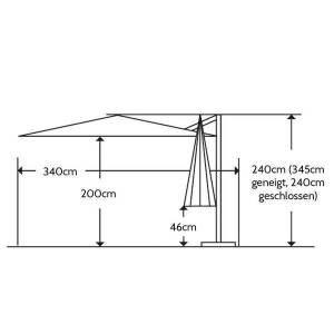 Schneider Rhodos Junior Ampelschirm 270x270cm Natur