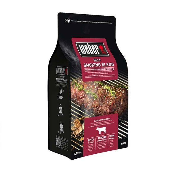 Weber Räucherchips Beef, 700 g Braun