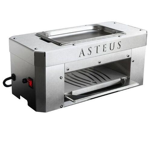 ASTEUS Infrarot-Elektrogrill Candle Light Hellgrau