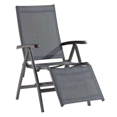 Sieger Bodega Relaxsessel Aluminium/Textilene Dunkelgrau