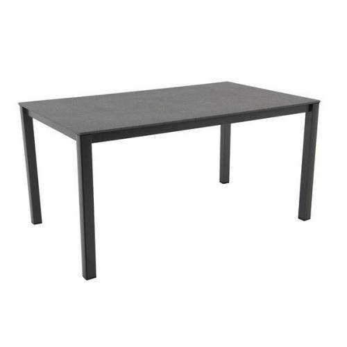 MWH Elements Gartentisch 160x90 cm Aluminium/Creatop Basic Dunkelgrau