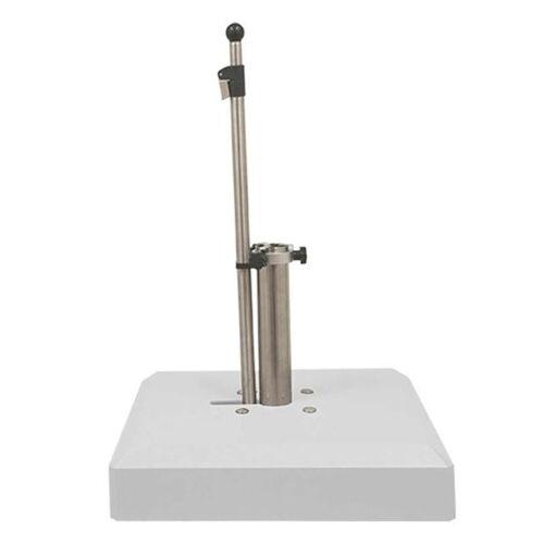 LiRo Alu-Vario 50-S Mobiler Schirmständer - Klemmung flex. 25-53mm Weiß