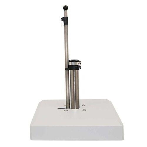 LiRo Alu-Vario 65-K Mobiler Schirmständer - Schnellspanner Weiß