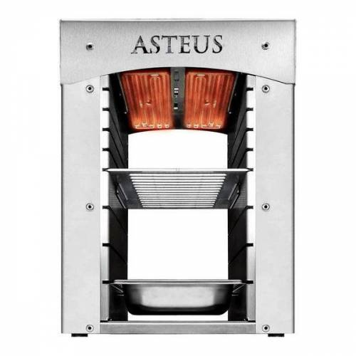 ASTEUS Elektro-Infrarotgrill Steaker Junior Hellgrau