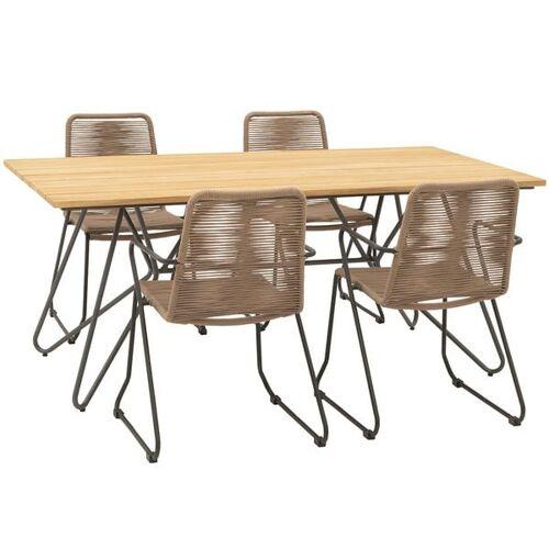 OUTLIV. Maranello Gartenmöbelset 5tlg Tisch 180x90 cm Taupe