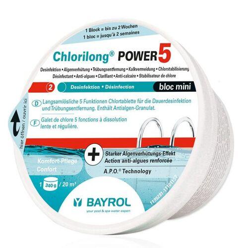 BAYROL Chlorilong® Power 5 Bloc Mini Chlortablette 340g
