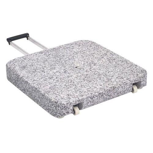 Glatz Granitsockel Z 55kg ohne Standrohr / mit Rollen Hellgrau