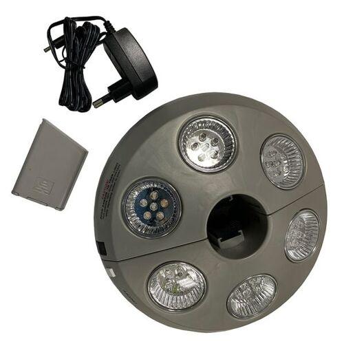OUTLIV. LED Akku Leuchte für Sonnenschirme Dunkelgrau