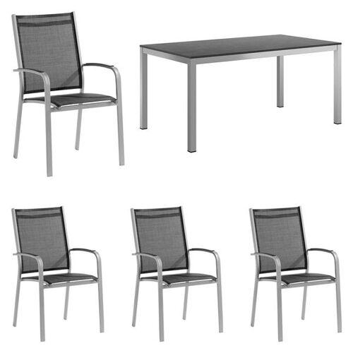 Sieger Meran Gartenmöbelset 5-tlg. mit Tisch 160x90 cm