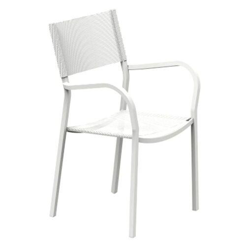 Vermobil Alice Stapelsessel Stahl/Texplast Weiß Weiß