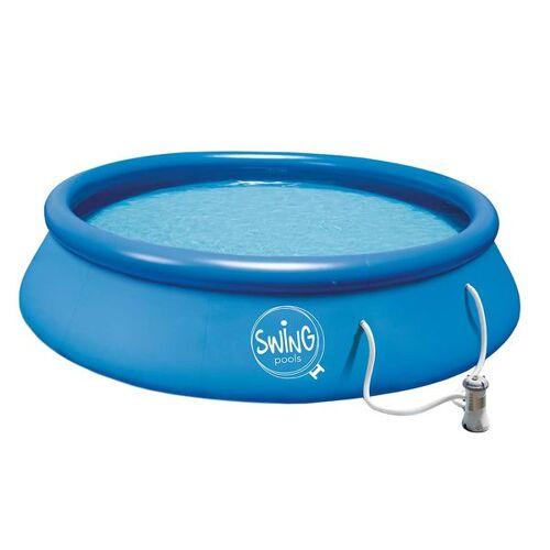 Summer Fun Quick Set Pool Ø366x91cm mit Kartuschenfilterpumpe Blau Blau