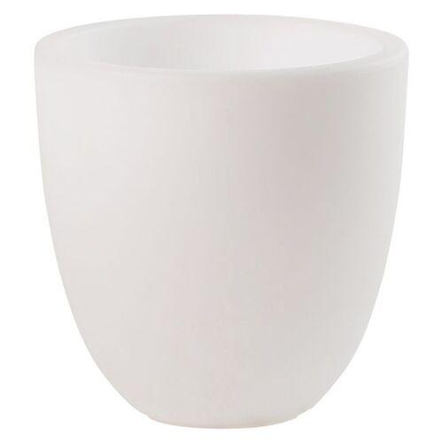 VON HASTEDT Pro Curvy Pot S PLUS SMART Pflanzkübel H39cm Ø39cm LED Weiß Weiß