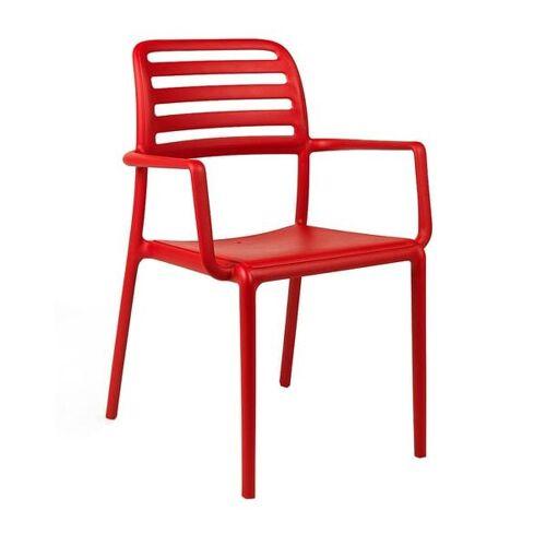 Nardi Costa Bistrot Stapelsessel Kunststoff Rot