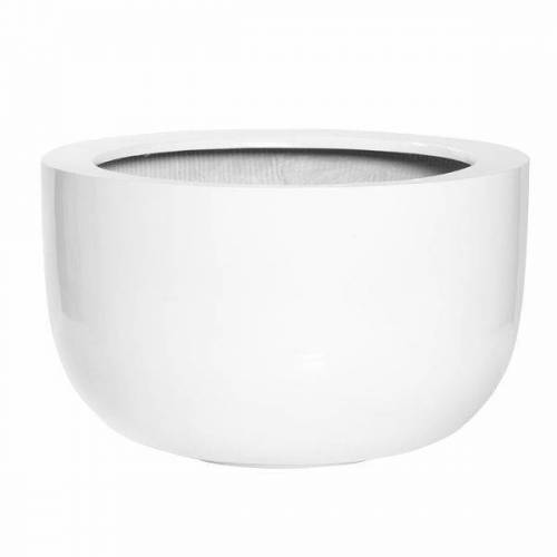 Pottery Pots Sunny L Pflanztopf Ø45x27cm Fiberstone Weiß