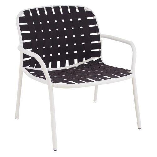 Emu Yard Loungesessel Aluminium/Gurtbespannung Weiß Braun