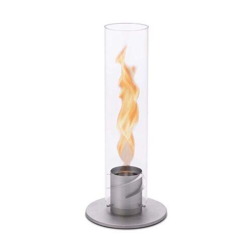 höfats Spin Windlicht Edelstahl/Glas Hellgrau