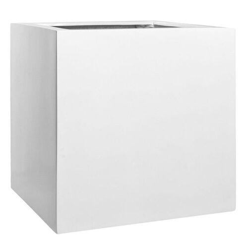 Pottery Pots Block XL Pflanztopf 60x60cm Fiberstone Weiß