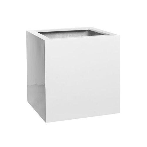Pottery Pots Block M Pflanztopf 40x40cm Fiberstone Weiß