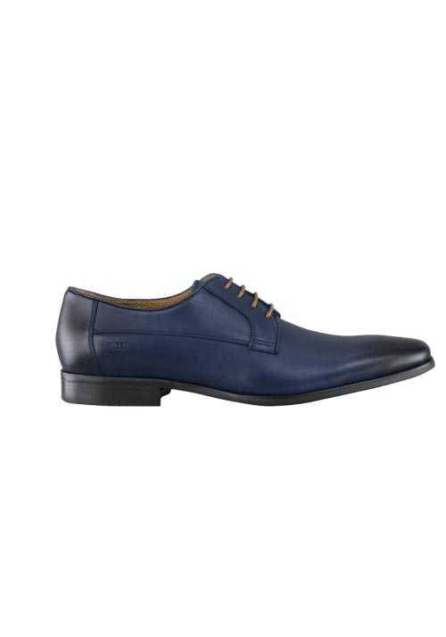 DIGEL Schuh STEVE Leder Schnürer Ziernähte dunkelblau