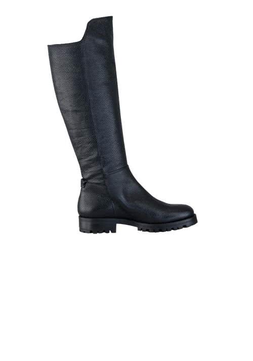 HUGO BOSS Stiefel ADEL Leder Reißverschluss Struktur schwarz