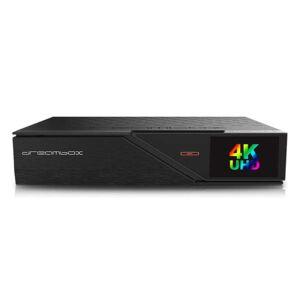DreamBox DM900 UHD 4K E2 Linux PVR 1x Dual DVB-S2 Sat Receiver Schwarz 500GB