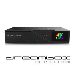 DreamBox DM900 BT UHD 4K E2 Linux 1xDVB-S2X FBC MS Sat Receiver Schwarz 500GB