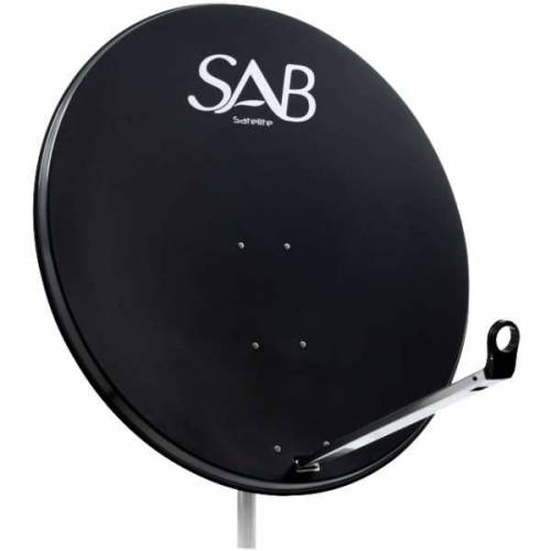 SAB Sat Antenne 100 cm Stahl Satellitenschüssel Sat Schüssel Spiegel Anthrazit