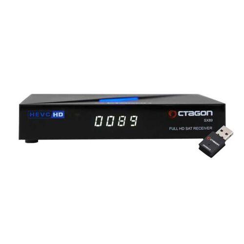 Octagon SX89 Full HD H.265 Linux LAN HDMI DVB-S2 Sat Tuner IP Receiver mit 300Mbit/s WLAN-Stick