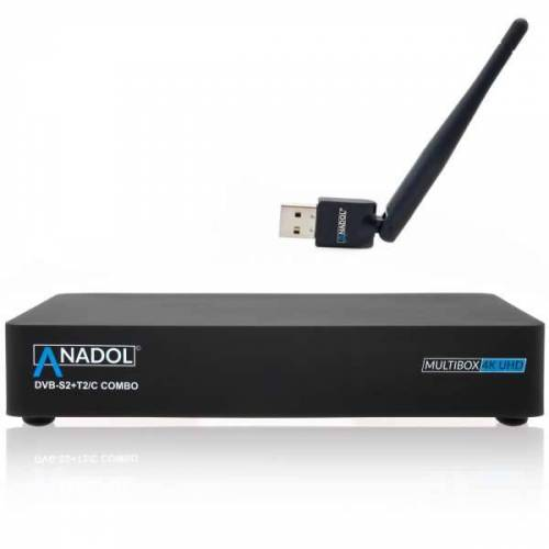 Anadol Multibox 4K UHD 2160p E2 Linux DVB-S2 Sat & DVB-T2/C Combo Wifi Receiver