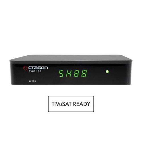 Octagon SX88+ SE Full HD HEVC DVB-S2X SAT+IP Receiver TiVuSat geeignet