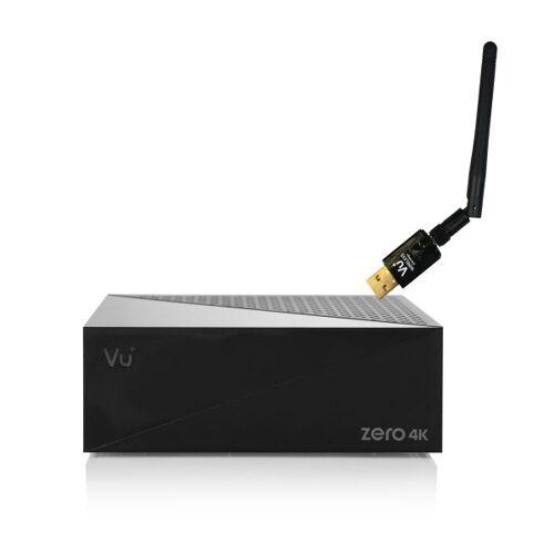 VU+ Plus Zero 4K DVB-S2X Multistream Linux HbbTV UHD 600Mbit Wlan Sat Receiver Schwarz