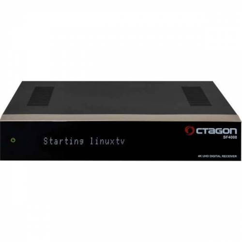 Octagon SF4008 Triple 4K E2 Linux UHD 2160p Receiver 2x DVB-S2X 1x DVB-C/T2 1TB