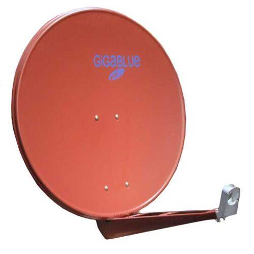 GigaBlue HD Super 85cm Doppelarm Alu Sat Antenne Rot