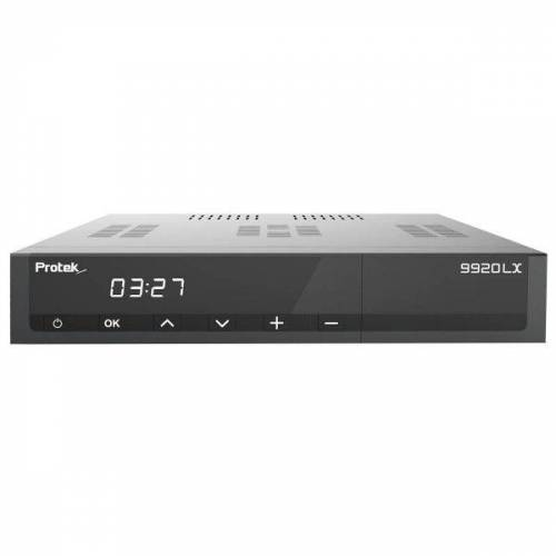 Protek 9920 LX E2 Linux Full HD 1080p HEVC H.265 TV IP Receiver Schwarz 1x DVB-S2 1x DVB-C/T2