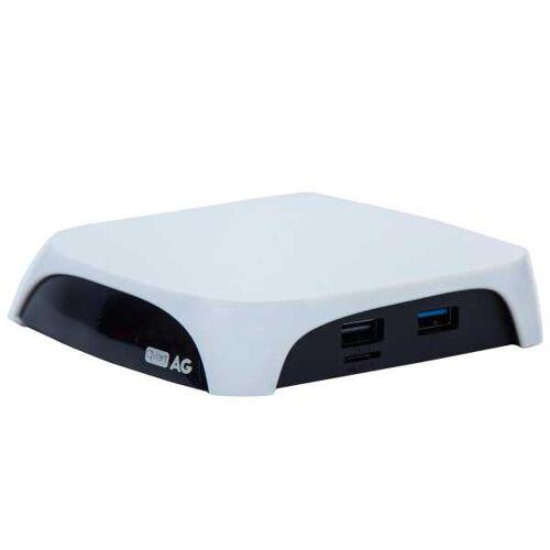 Qviart AG 4K UHD Android 7.0 Mediaplayer TV Box OTT H.265 HDR10 Wlan USB HDMI IPTV Weiß