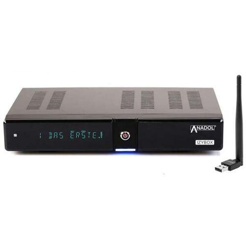 Anadol IZYBOX 4K Ultra HD DVB-S2X Tuner H.265 HEVC HDMI USB WLAN Stick mit Antenne Sat Receiver