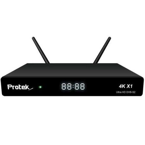 Protek X1 4K UHD 2160p H.265 HEVC E2 Linux Dual Wifi DVB-S2 Sat Receiver