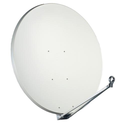 Gibertini Sat Antenne 125 cm Alu Satellitenschüssel Schüssel Spiegel Lichtgrau Lichtgrau
