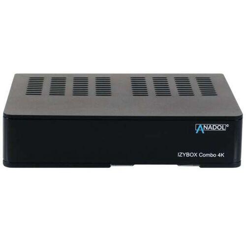 Anadol IZYBOX Combo 4K UHD DVB-S2/C/T2 H.265 HEVC HDMI USB LAN Sat & Kabel Receiver Schwarz