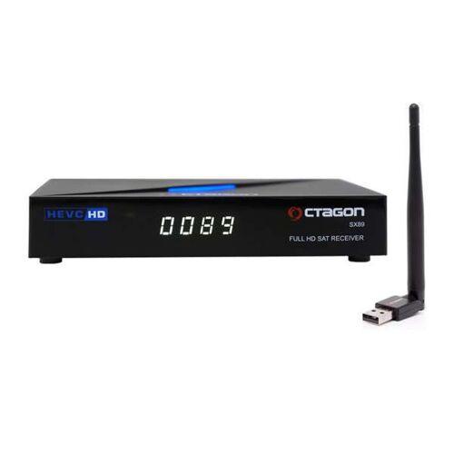 Octagon SX89 Full HD H.265 Linux LAN HDMI DVB-S2 Sat Tuner IP Receiver mit 150Mbit/s WLAN-Stick